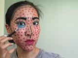 Eye-Catching DIY Lichtenstein Comic Book Makeup10