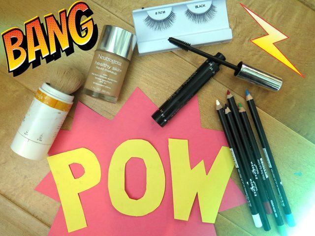 Picture Of Eye Catching DIY Lichtenstein Comic Book Makeup 2
