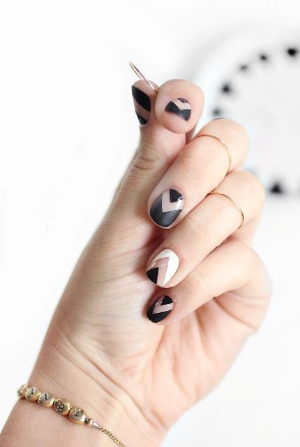 Picture Of Fabulous DIY Chevron Nail Art 3
