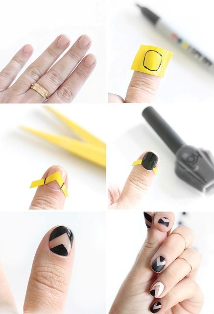 Picture Of Fabulous DIY Chevron Nail Art 4