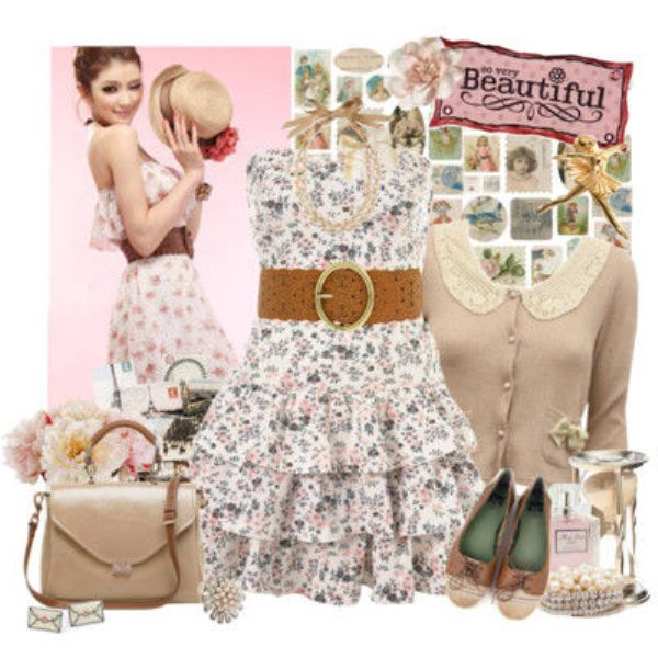 Picture Of Fashionable And Style Floral Print In Clothes 4