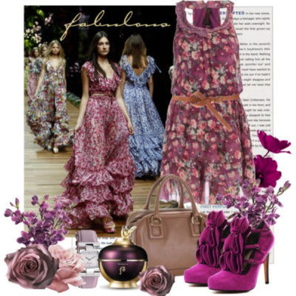 Picture Of Fashionable And Style Floral Print In Clothes 7