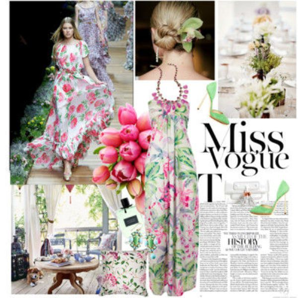 Picture Of Fashionable And Style Floral Print In Clothes 8