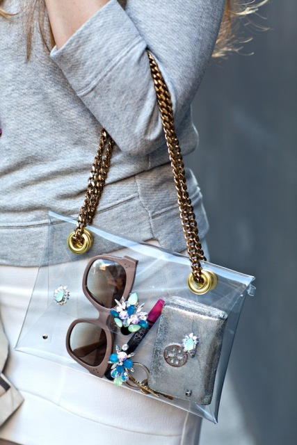 Fashionable DIY Chain Strap Swarovski Embellished Clutch