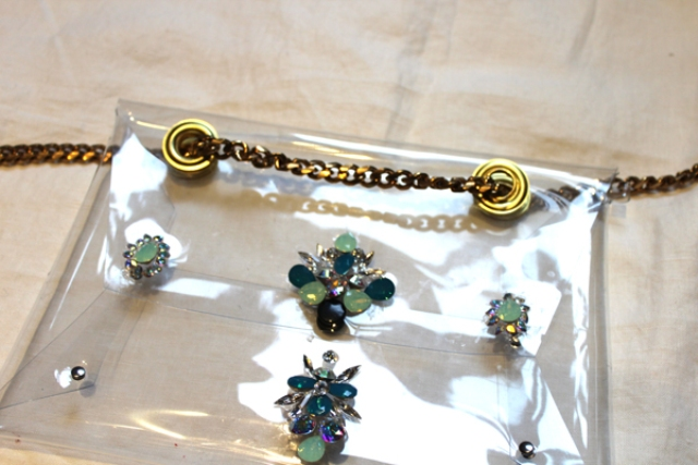 Picture Of Fashionable DIY Chain Strap Swarovski Embellished Clutch 7