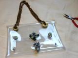 Fashionable DIY Chain Strap Swarovski Embellished Clutch8
