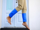 Fashionable DIY Color Blocked Pants