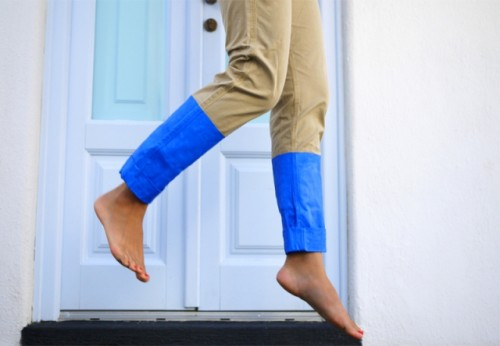Fashionable DIY Color Blocked Pants