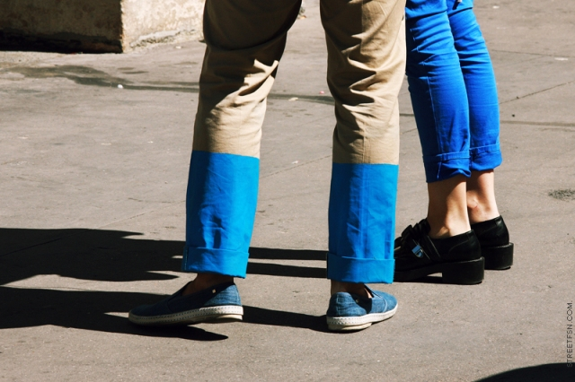 Picture Of Fashionable DIY Color Blocked Pants 7