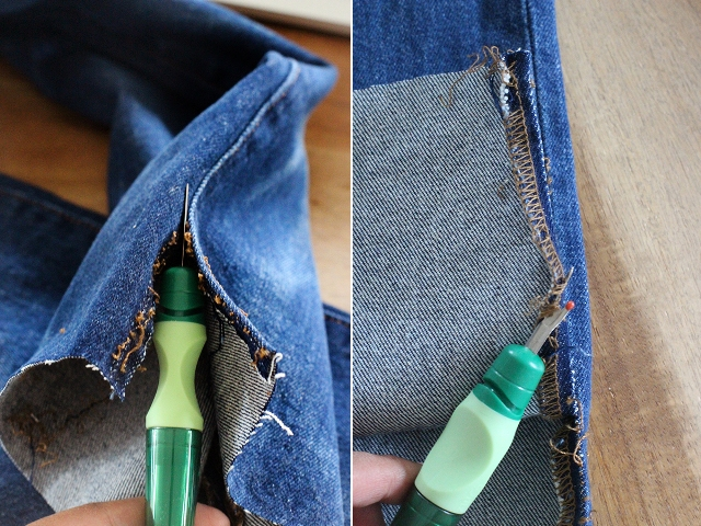 Picture Of Fashionable DIY Frayed Denim 4