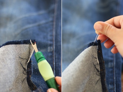 Fashionable DIY Frayed Denim To Make