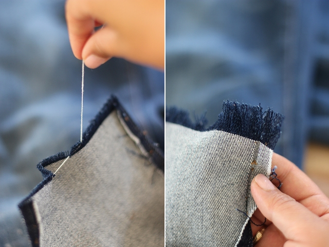 Picture Of Fashionable DIY Frayed Denim 7