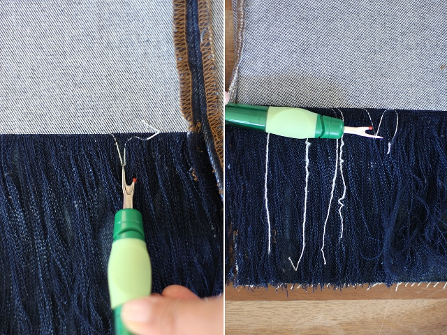 Picture Of Fashionable DIY Frayed Denim 9