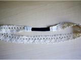 Feminine DIY Double Strand Lace Headband6