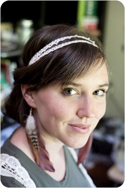 Feminine DIY Double Strand Lace Headband