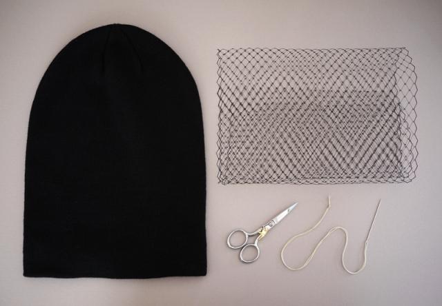 Picture Of Feminine DIY Jil Sander Inspired Veiled Beanie 2