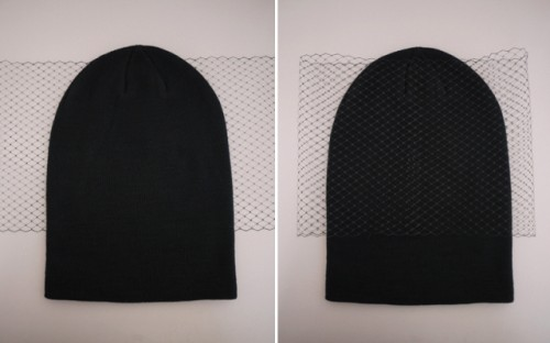 Feminine DIY Jil Sander Inspired Veiled Beanie