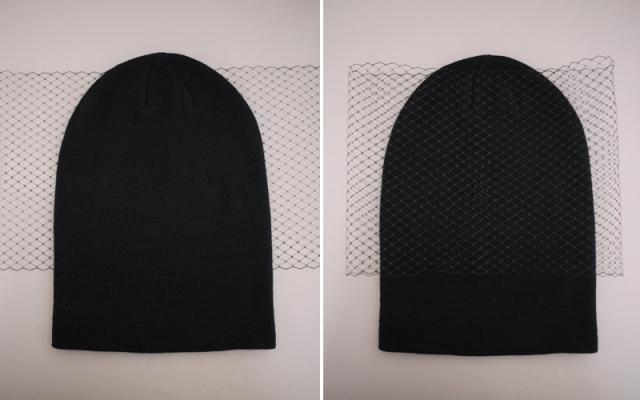 Picture Of Feminine DIY Jil Sander Inspired Veiled Beanie 3