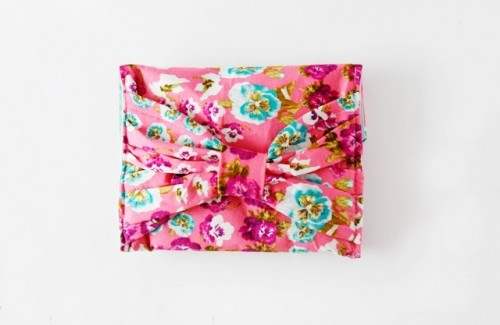 Floral Patterned DIY Bow Pouch