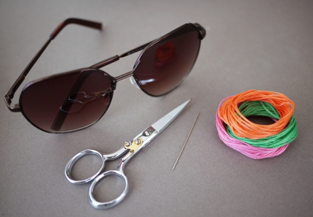Picture Of Floral DIY Embroidered Sunglasses 2