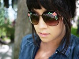 Floral DIY Embroidered Sunglasses7