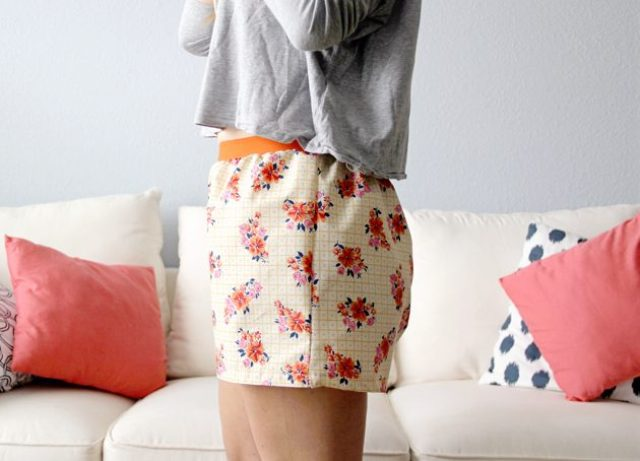 Picture Of Floral DIY Women's Boxer Shorts 12
