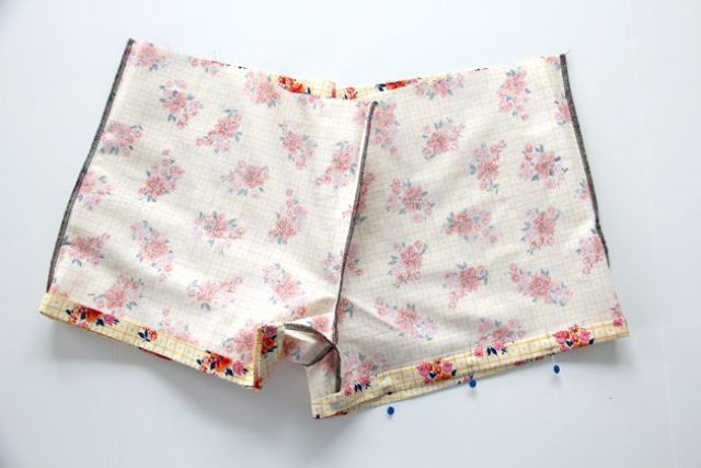 Picture Of Floral DIY Women's Boxer Shorts 8