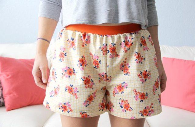 Floral DIY Women's Boxer Shorts