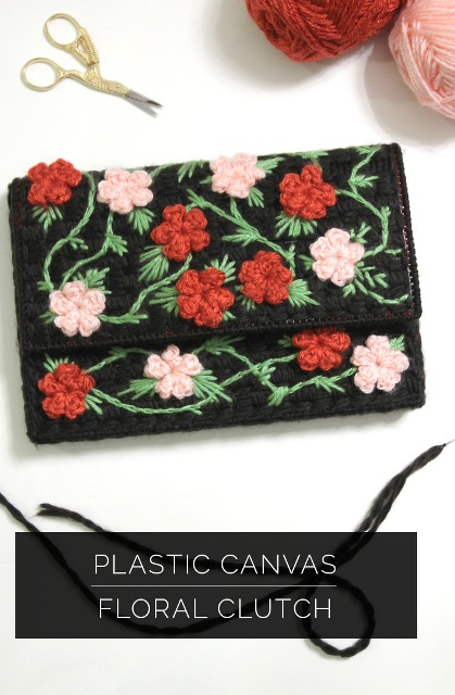Folklore DIY Embroidered Floral Clutch