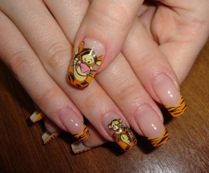 Picture Of Funny Cartoon Nail Art Designs 1