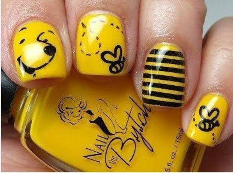 - Picture Of Funny Cartoon Nail Art Designs 11