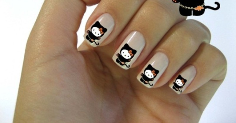 Picture Of Funny Cartoon Nail Art Designs 13