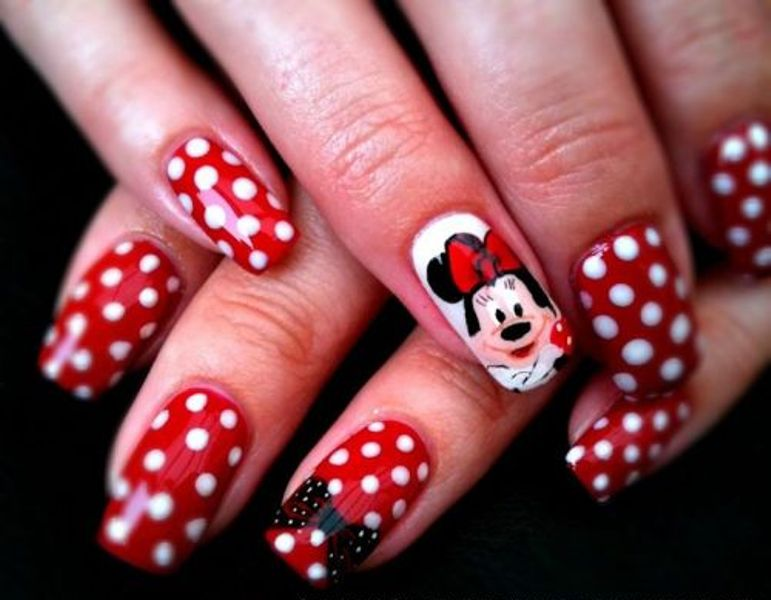 Picture Of Funny Cartoon Nail Art Designs 14