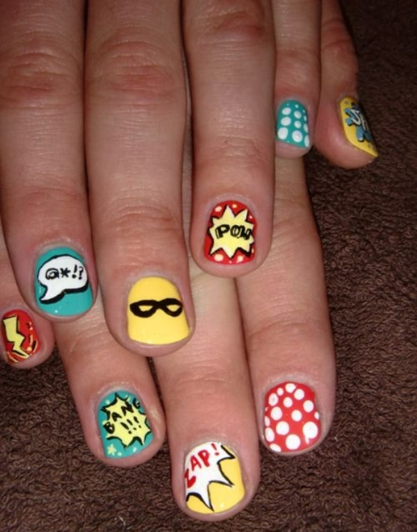 Picture Of Funny Cartoon Nail Art Designs 15