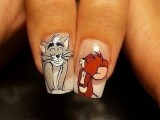 Funny Cartoon Nail Art Designs 2