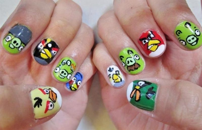 Picture Of Funny Cartoon Nail Art Designs 3
