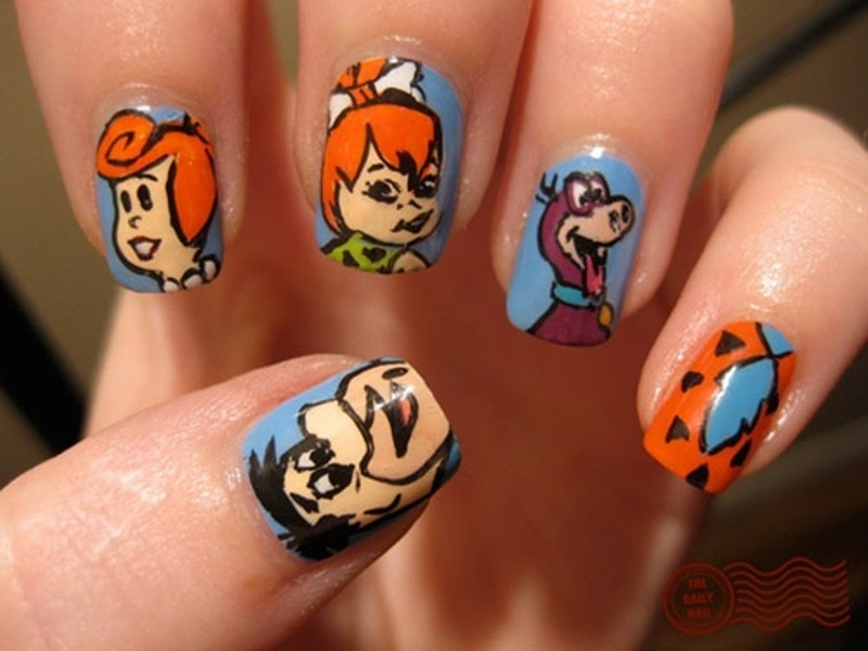 Picture Of Funny Cartoon Nail Art Designs 4