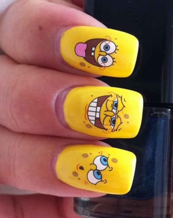 Picture Of Funny Cartoon Nail Art Designs 5 - Of Funny Cartoon Nail Art Designs 5