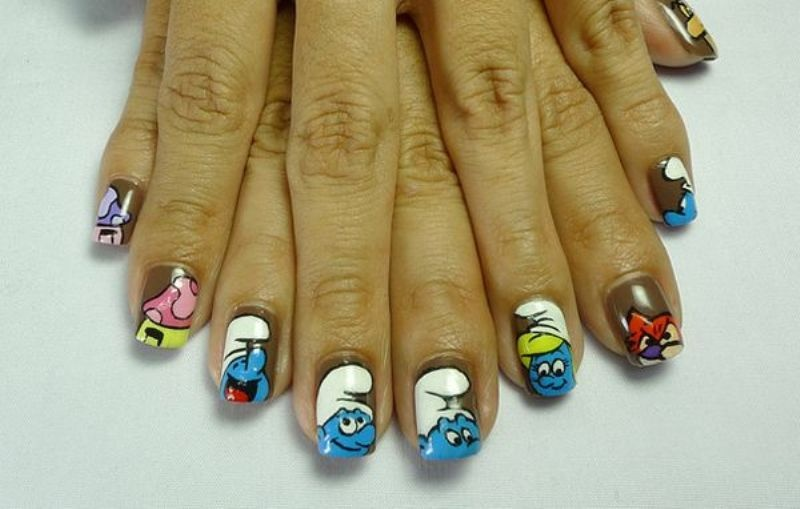 Picture Of Funny Cartoon Nail Art Designs 7