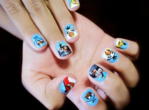 Funny Cartoon Nail Art Designs
