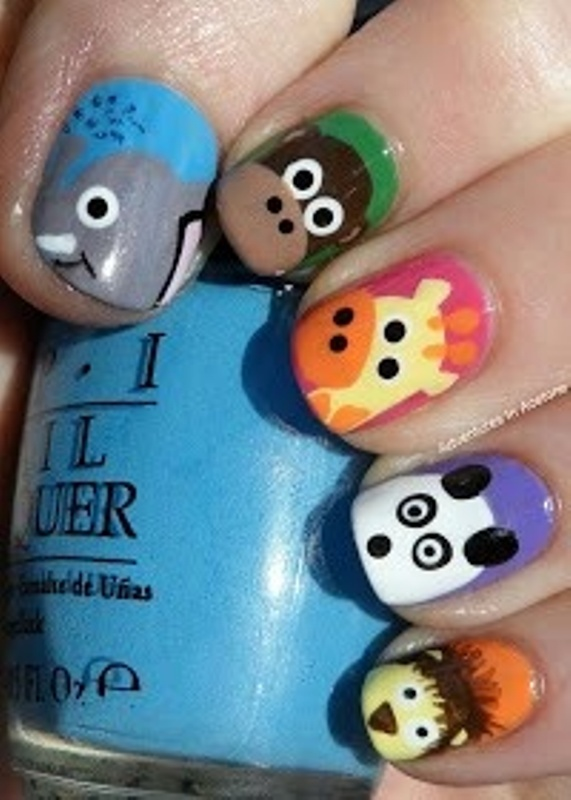 Of funny cartoon nail art designs 9 picture of funny cartoon nail art designs 9 prinsesfo Images