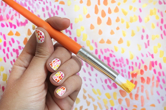 Picture Of Funny Diy Brush Strokes Nail Art