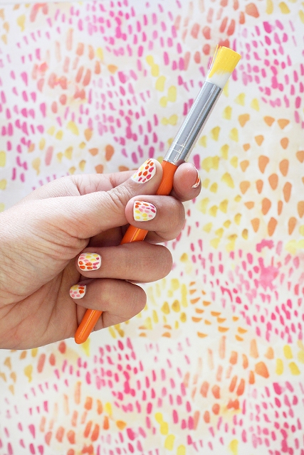 Picture Of Funny DIY Brush Strokes Nail Art 2