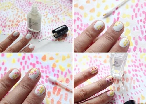 Funny DIY Brush Strokes Nail Art