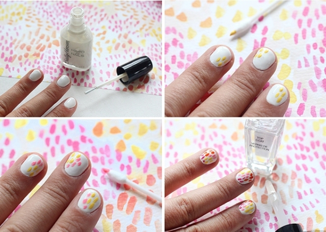 Picture Of Funny DIY Brush Strokes Nail Art 5