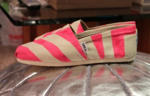 Funny DIY Neon Stripe Shoes