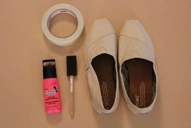 Picture Of Funny DIY Neon Stripe Shoes 2