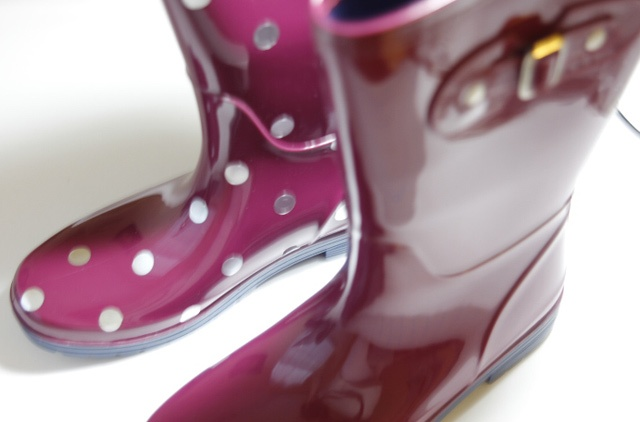 Picture Of Funny DIY Polka Dot Wellies 4