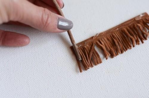 Trendy DIY Leather Tassel Sandals