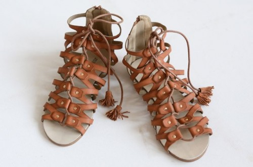 Trendy DIY Leather Tassel Sandals